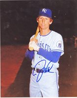 JIM WOHLFORD KANSAS CITY ROYALS ACTION SIGNED 8x10