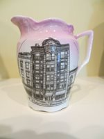 SOUVENIR CHINA pitcher ST LAWRENCE INN GOUVERNEUR N.Y.NY New York COLOR VIEW