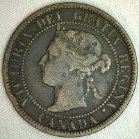 1899 Copper Canadian Large Cent Coin 1-Cent Canada K4