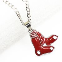 Boston Red Sox Baseball Necklace Pendant Jewelry With 60cm 10pcs/lot