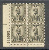 Scott WS10 1942 $1 gray black, Nov. 17 LL plate #149595 block of four, mint, VF