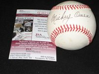 MICKEY OWEN DODGERS SIGNED AUTOGRAPHED AUTHENTIC RAWLINGS ONL BASEBALL JSA COA