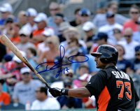 Miami Marlins Donovan Solano Signed 8x10 Photo COA