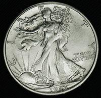 1943-s Liberty Walking Half. BU (INV.A)