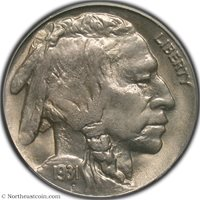 1931-S Buffalo Nickel PCGS MS65 Buffalo Nickel