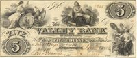 Hagerstown Valley Bank 1856 $5 V-81 60.10.1 245-G6 1040-G10 Rawdon, Wright, Hatch & Edison presents this issue with uniform tight margins, well centered, P/H AU