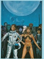 Ron Miller's Firebrands Promo Card. Heroines of Science Fiction & Fantasy.