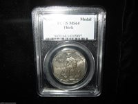 "8 - Sided 1925 Norse American Medal PCGS MS 64 ""Thick Silver"" BEAUTIFUL"