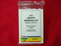 1994 AUGUSTA GREENJACKETS MINOR LEAGUE TEAM SET FLEER PROCARDS FACT. SEALED NICE