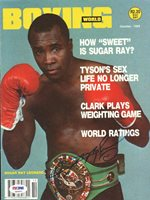 Sugar Ray Leonard Autographed Signed Boxing World Magazine Cover PSA/DNA S49267