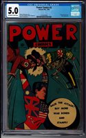 Holyoke Power Comics #2 CGC 5.0 Off-White to White Pages Hitler and Tojo Scarce