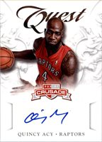 2012-13 Panini Crusade Quest Autographs #67 Quincy Acy - NM-MT