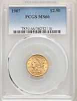 1907 $2 1/2 MS66 PCGS