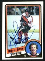 Darryl Sittler Autographed 1984-85 Topps Card #121 Philadelphia Flyers SKU #151774Darryl Sittler Autographed 1984-85 Topps Card #121 Philadelphia Flyers SKU #151774