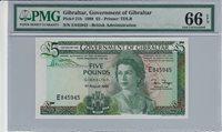 5 Pounds Gibraltar P 21b 1988 Pmg 66 Epq