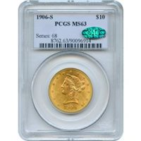 1906-S $10 Liberty Head Eagle PCGS MS63 (CAC)