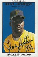 Stacy Hollins 1995 Signature Rookies Old Judge Autograph Rookie Card /5750 A's