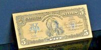 AN ☆AMAZING ☆ 《1899 SILVER CERTIFICATE》 INDIAN CHIEF $5 Rep.*Banknote ☆xqz