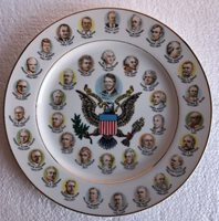 Presidents Plate 1997 Jimmy Carter 200 years of presidents 10 1/2""