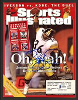 Jerome Bettis Autographed Sports Illustrated Magazine Pittsburgh Steelers Beckett BAS #S76444Jerome Bettis Autographed Sports Illustrated Magazine Pittsburgh Steelers Beckett BAS #S76444