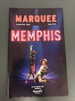 MEMPHIS Musical NATIONAL TOUR Debut Playbill ORPHEUM Theatre TN! FELICIA BOSWELL