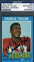 Charley Taylor Autographed Signed Trading Card PSA/DNA 1971 Topps Autograph AuthenticCUSTOM FRAME YOUR JERSEY