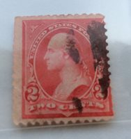 1894 USA Bureau Issue 2c carmine and triangle B Washington Stamp used