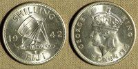 Fiji Isl : 1942S 1 Sh Beautiful Gem Bu #12a IR1294