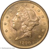 1890-S Gold Double Eagle NGC MS61 Gold Double Eagle
