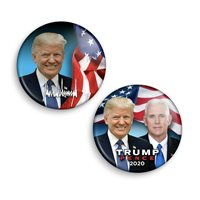 Exclusive 2 Photo Buttons Set | Trump Pence 2020 Campaign | Badge | Pins