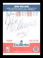 "John ""Hot Rod"" Williams Autographed 1987-88 Fleer Rookie Card #122 Washington Bullets On Back SKU #178841John ""Hot Rod"" Williams Autographed 1987-88 Fleer Rookie Card #122 Washington Bullets On Back SKU #178841"