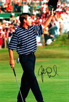 Justin Leonard Claret Jug Winner Hand Signed Photo 12x8 4.