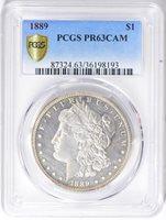 1889 $1 PR63CAM PCGS