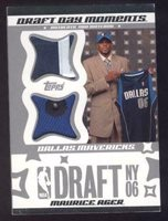 2006-07 Topps Big Game Draft Day Moments Ball and Hat #MA Maurice Ager /25