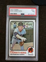 1973 TOPPS #651 DON CARRITHERS *PSA GRADED NM 7 *SHARP* *KGC-3293