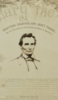 1864 Lincoln Emancipation Proclamation Giant Campaign Photographic Display Print