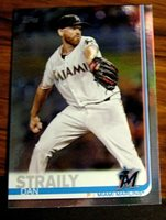 2019 TOPPS SERIES 1 #325 DAN STRAILY MARLINS RAINBOW FOIL NM-MT