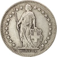 Switzerland, 1/2 Franc, 1931, Bern, EF(40-45), Silver, KM:23