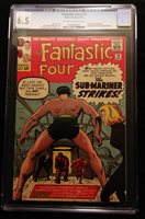 1963 Marvel Fantastic Four #14 CGC 6.5 Off White to White Pages