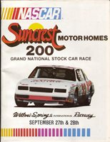 Willow Springs Raceway Auto Race Program
