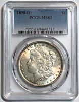 1890-O $1 Morgan Silver Dollar PCGS MS 63