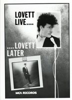 LYLE LOVETT RECORD ARTWORK VINTAGE ORIGINAL 1980`S PRINTERS ART WORK+ RARE PHOTO