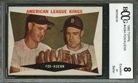 1960 topps #429a NELLIE FOX - HARVEY KUENN detroit tigers BGS BCCG 8