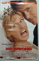MR. WRONG Movie Poster made in 1996