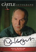 Castle Seasons 3 & 4 Autograph Card A13 - John Kapelos as Joe Pulgatti