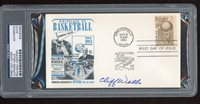 Cliff Wells Signed 1961 Basketball HOF FDC First Day Cover PSA/DNA D.1977 Coach