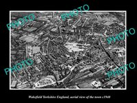 OLD 8x6 HISTORIC PHOTO OF WAKEFIELD ENGLAND AERIAL VIEW OF THE TOWN c1940 1