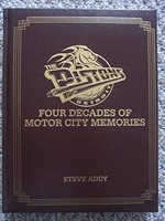 Detroit Pistons: Four Decades of Motor City Memories Book Signed by former Pistons Kelly Tripuka, Bill Laimbeer, Rick Mahorn and Kent Benson