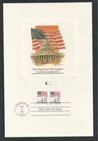 # 2115b THE FLAG OVER THE CAPITOL, 1987 Fleetwood First Day Proofcard