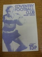 23/11/1979 Rugby Union Programme: Coventry v Bedford (rusty staples). Any fault